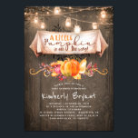 "A Little Pumpkin Is On The Way Rustic Baby Shower Invitation<br><div class=""desc"">Mason jar lights and fall harvest pumpkins design rustic baby shower invitation - A little Pumpkin is on the way</div>"