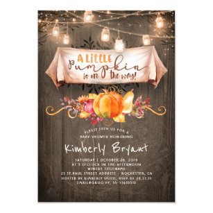 Pumpkin Baby Shower Invitations Zazzle