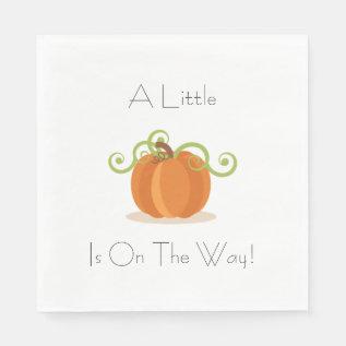 A Little Pumpkin Napkins at Zazzle