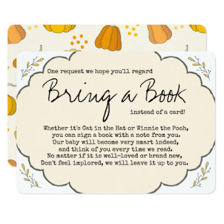 A Little Pumpkin Vintage Bring A Book Card