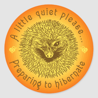' A little quiet please...' Classic Round Sticker
