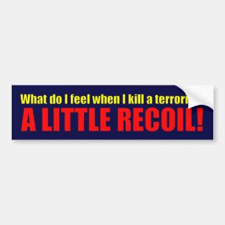 A Little Recoil! Car Bumper Sticker