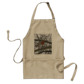 A little red Robin in the tree Adult Apron