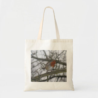 A little red Robin in the tree Tote Bag