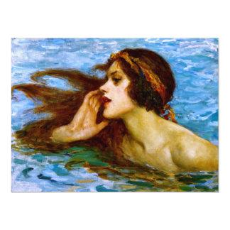 A LITTLE SEA MAIDEN (sea nymph - mermaid) ~ Card
