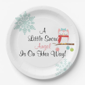 A Little Snow Angel Plate