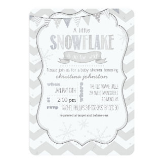 Nice A Little Snowflake Baby Shower Invitation