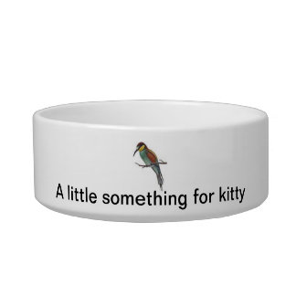 A little something for kitty bowl
