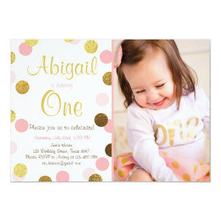 A little sparkle pink gold birthday invitation