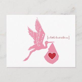 A Little Stork Told Me...Postcard postcard