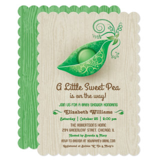 A Little Sweet Pea is on the Way Baby Shower Card