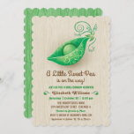 A Little Sweet Pea is on the Way Baby Shower Invitation