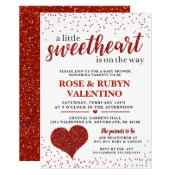 A Little Sweetheart Baby Shower Invitation