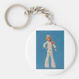 A Little Tar on Sailor Girl Basic Round Button Keychain