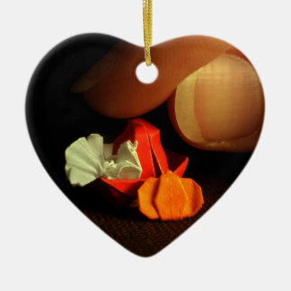 A Little Thanksgiving Double-Sided Heart Ceramic Christmas Ornament
