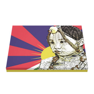 A little Tibetan girl Stretched Canvas Prints