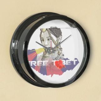 A little Tibetan girl / SAVE TIBET~! FREE TIBET! Aquarium Clock
