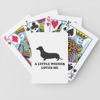 A Little Wiener Loves Me Bicycle Playing Cards