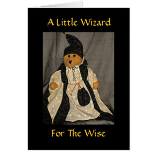 A Little Wizard for the Wise Card