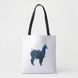 A llama tote bag