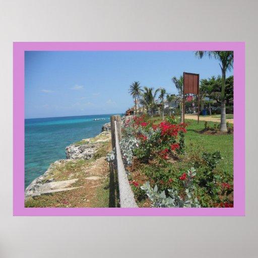 A lo largo de la impresión de Montego Bay del parq Poster