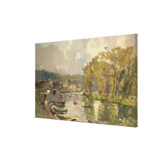 A lo largo del Sena en Meudon, c.1893 (aceite en l Impresiones En Lienzo Estiradas