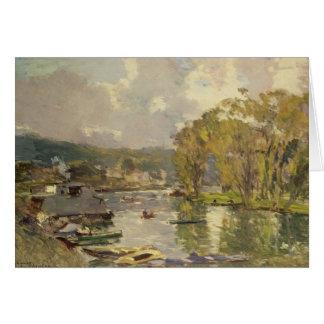 A lo largo del Sena en Meudon, c.1893 (aceite en l Tarjeta De Felicitación