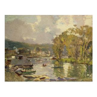 A lo largo del Sena en Meudon, c.1893 (aceite en Postales