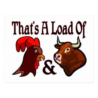 A Load Of Cock & Bull Postcard