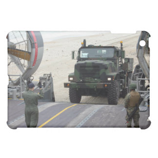 A loadmaster guides a Marine 7-ton truck iPad Mini Cases