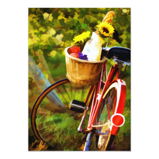 """A Loaf of Bread a Jug of Wine and a Bike 5"""" X 7"""" Invitation Card"""