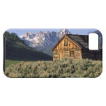 A log cabin and the Sawtooth Mountains in iPhone 5 Cases