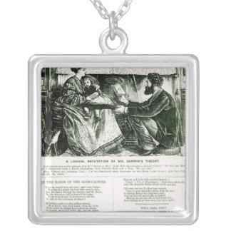 A Logical Refutation of Mr. Darwin's Theory Silver Plated Necklace
