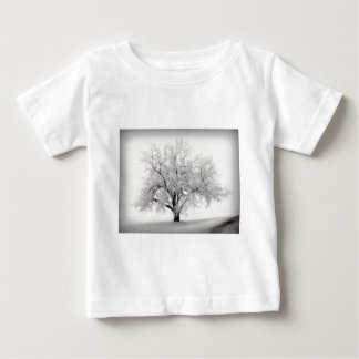 A lone Frostry Tree in the North Dakota Prairie Baby T-Shirt