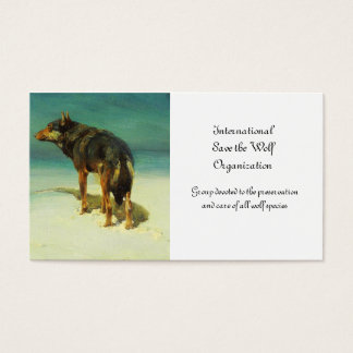 A Lone Wolf Samotny Wilk Business Card
