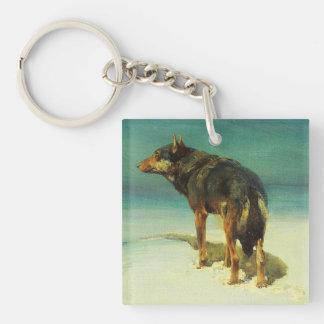 A Lone Wolf Samotny Wilk Keychain