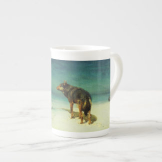 A Lone Wolf Samotny Wilk Porcelain Mug