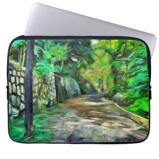 A lonely but lovely path laptop sleeves
