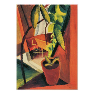 A look into summer-house by August Macke Poster