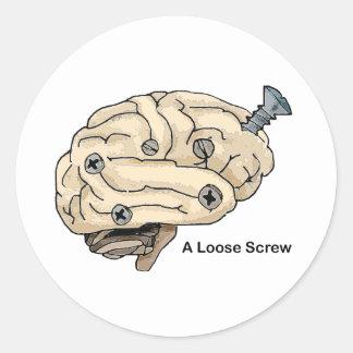 A Loose Screw Classic Round Sticker