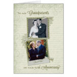 A los abuelos en el Aniversario-Personalizado Then Tarjetas