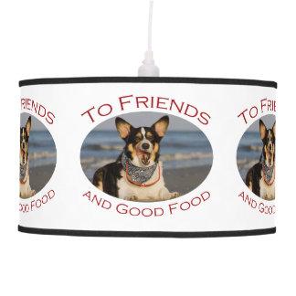 A los amigos y a la buena comida lámpara de techo