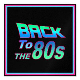 """A los años 80 1 invitación 5.25"""" x 5.25"""""""