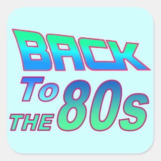 A los años 80 2 pegatina cuadrada