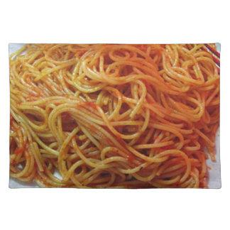 A los espaguetis del amor manteles individuales