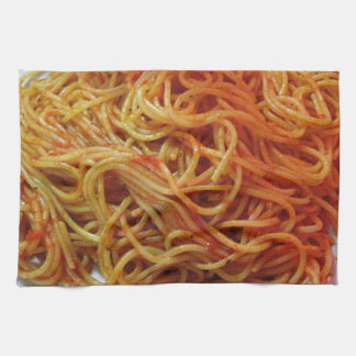 A los espaguetis del amor toallas de cocina
