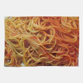 A los espaguetis del amor toalla