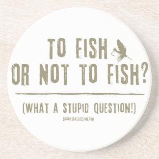 ¿A los pescados o no pescar Posavaso Para Bebida
