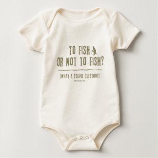 ¿A los pescados o no pescar? ¡Una qué pregunta Body Para Bebé
