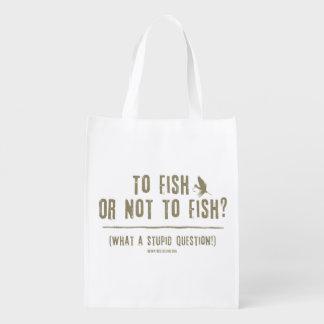 ¿A los pescados o no pescar? ¡Una qué pregunta Bolsas Para La Compra